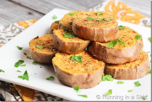 Roasted Sweet Potato Slices