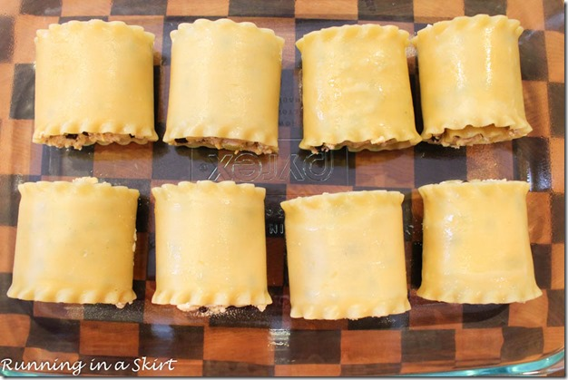 Vegetarian Mexican Lasagna Rollups / Running in a Skirt