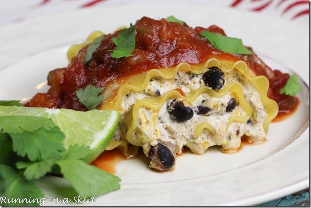 Vegetarian Mexican Lasagna Rollups / Running in a Skirt