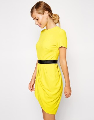 yellow steal dress