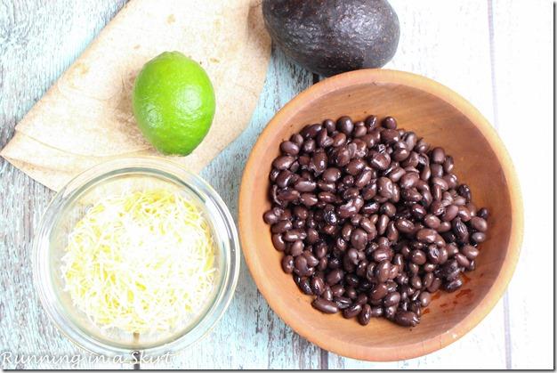 Black Bean Quesadilla with Avocado / A healthy Mexican food treat! Super easy to make.