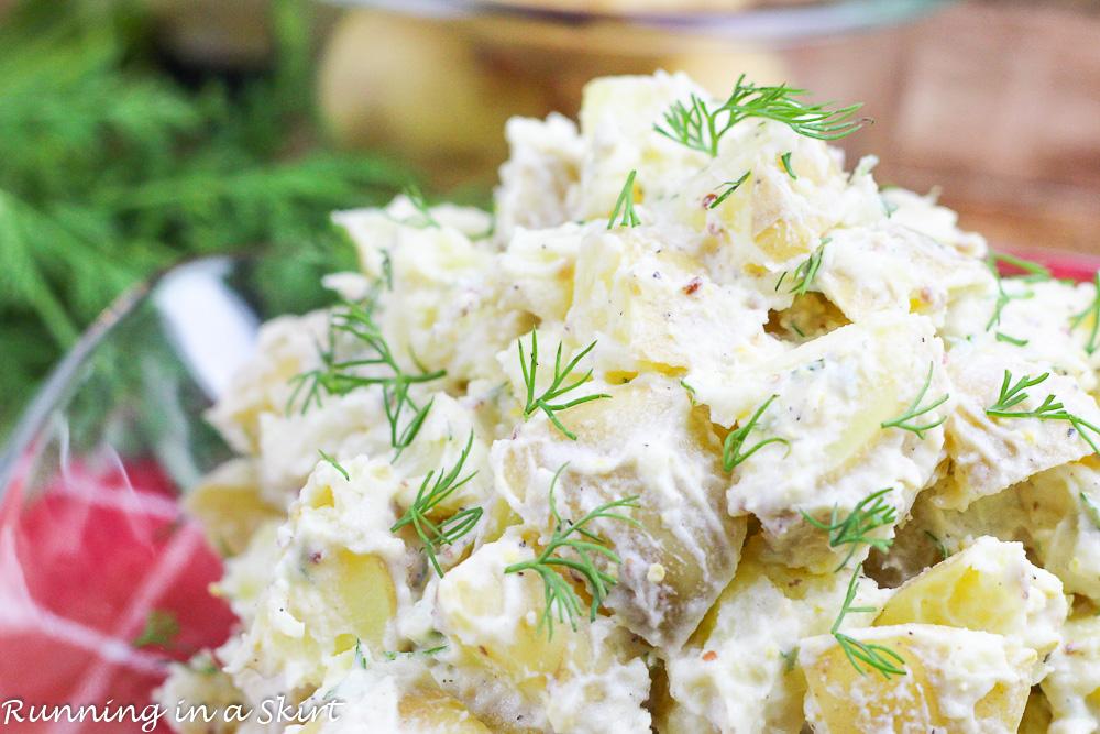 Greek Yogurt Potato Salad with dill