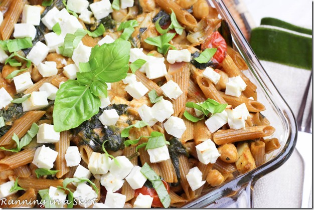 This light, healthier and vegetarian pasta bake recipe is a yummy treat! My Mediterranean Pasta Bake will have everyone at the table coming back for seconds.