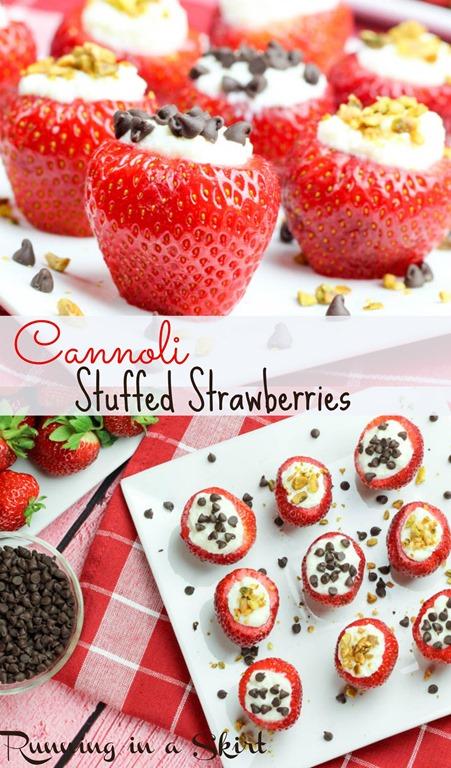 Cannoli Stuffed Stawberries