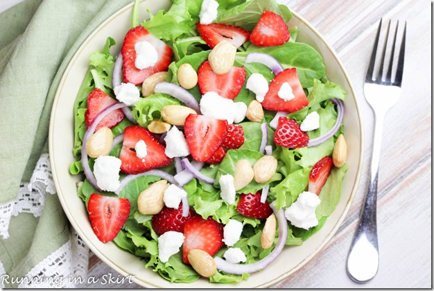 Kale, Strawberry Goat Cheese Salad / Perfect combination with a homemade dressing