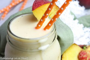 Healthy Peaches and Cream Smoothie recipe