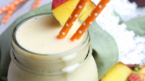 Healthy Peaches and Cream Smoothie recipe
