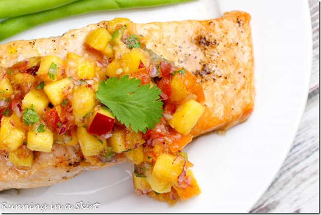 Cedar Plank Salmon Recipe with Peach Salsa