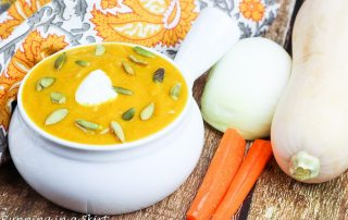 Healthy Crock Pot Butternut Squash Soup recipe / Running in a Skirt