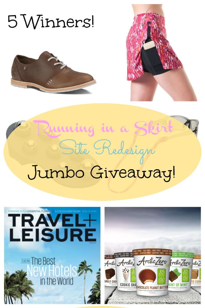 Running in a Skirt Site Redesign Jumbo Giveaway - 5 Winners