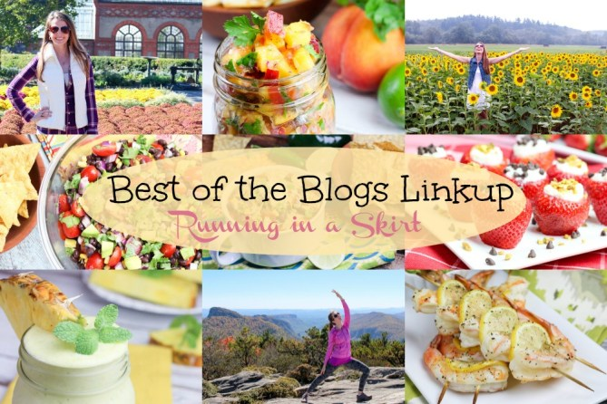 Best of the Blogs Linkup- Linkup your top post of the month or a wrap up of your top posts! The last weekday of every month on Running in a Skirt.