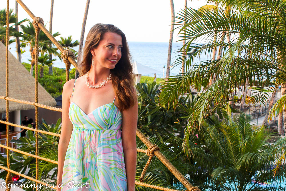 Lilly Pulitzer dress at Hilton Waikoloa Village