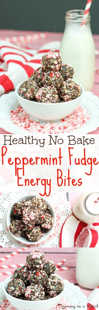 healthy Peppermint Fudge No Bake Energy Bites Recipe