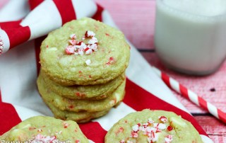 Chewy Soft Baked White Chocolate Peppermint Cookies recipe/ Running in a Skirt
