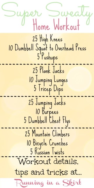 Super Sweaty Home Workout