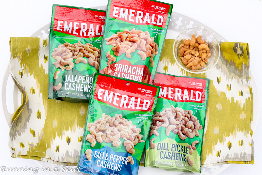 Emerald Cashews in 4 BOLD new flavors.