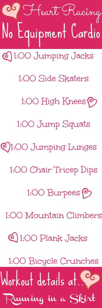 Heart Racing No Equipment Workout