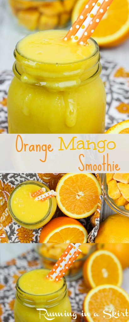 Orange Mango Smoothie- refreshing healthy smoothie