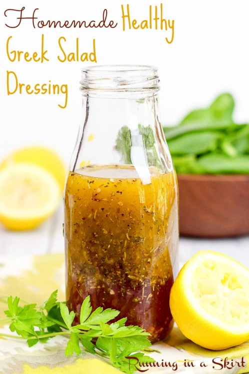 Healthy Greek Salad Dressing / Running in a Skirt