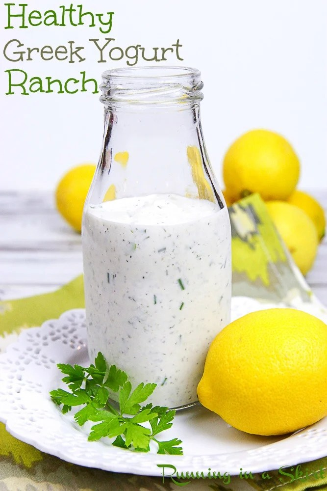 Ranch Dressing With Greek Yogurt Recipe Healthy Homemade