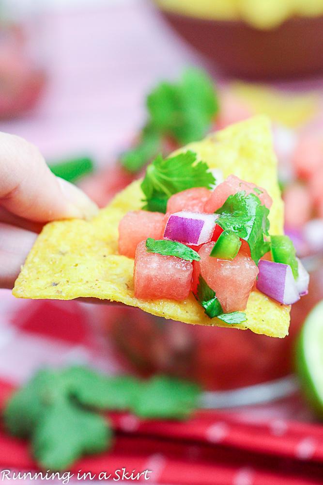 5 ingredient recipe for Watermelon Salsa