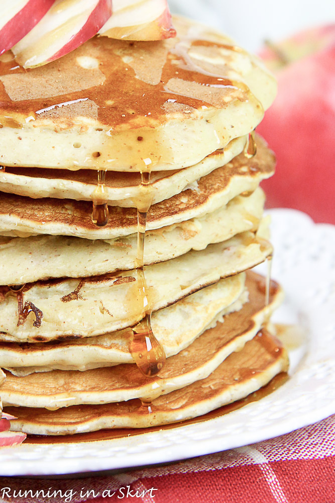 Apple Pie Greek Yogurt Pancakes Healthy-23-2