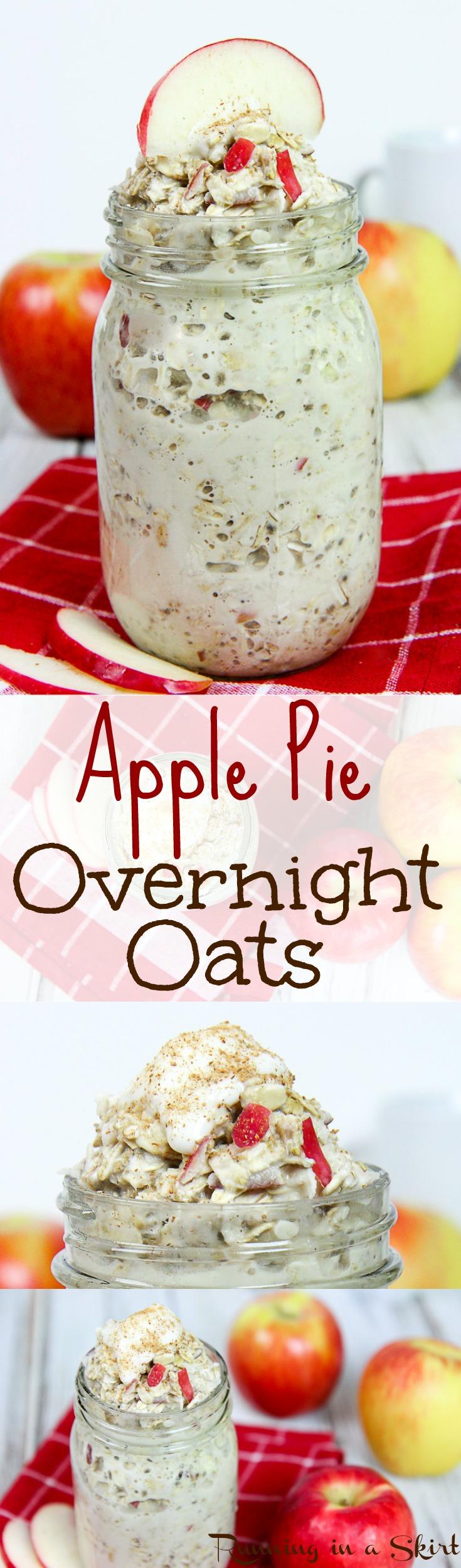 Healthy Apple Pie Overnight Oats