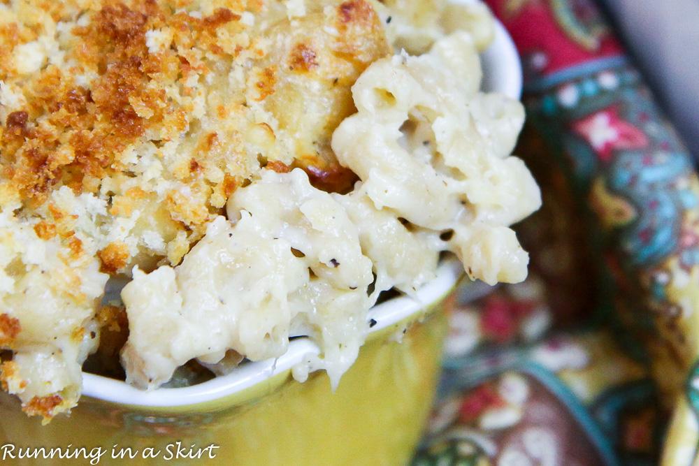 Creamy & Healthy Hidden Veggie Cauliflower Mac & Cheese / Running in a Skirt