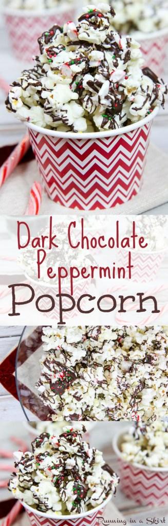 Dark Chocolate Peppermint Popcorn / Running in a Skirt