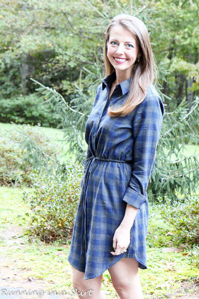 Flannel Dress and Booties / Running in a Skirt