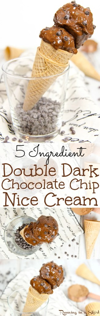 5 Ingredient Double Dark Chocolate Nice Cream / Running in a Skirt