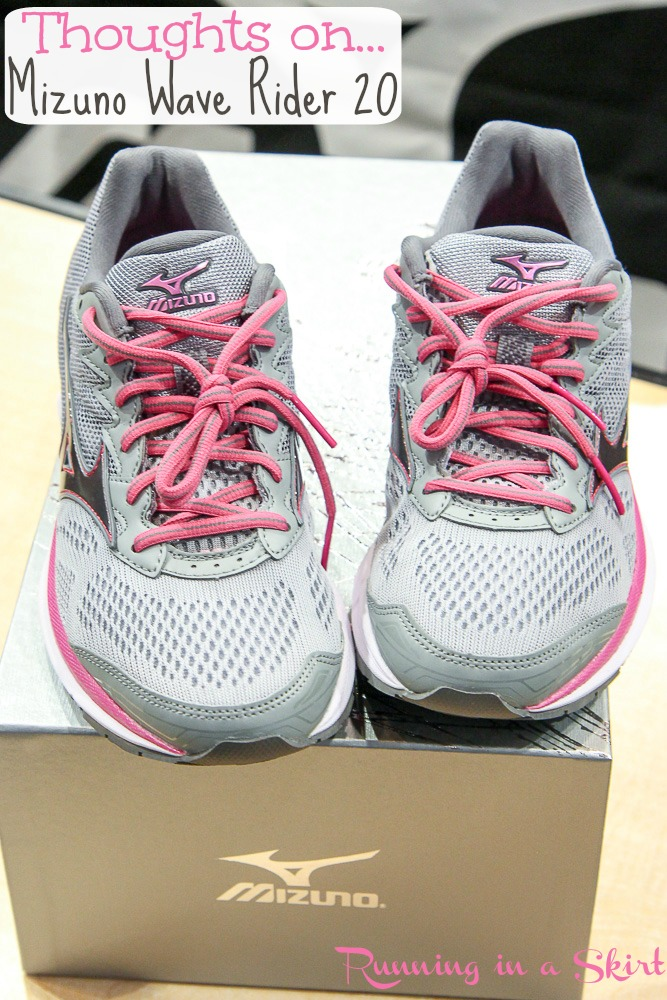 The Importance of Running Shoes and the Mizuno Wave Rider 20 / Running in a Skirt.