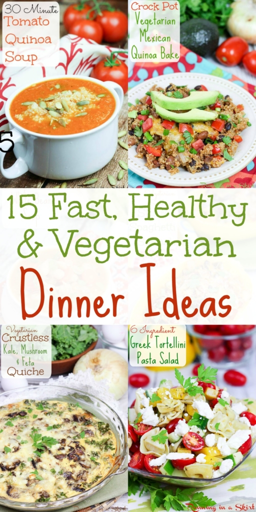 15 Healthy, Easy and Quick Vegetarian Meals / Running in a Skirt