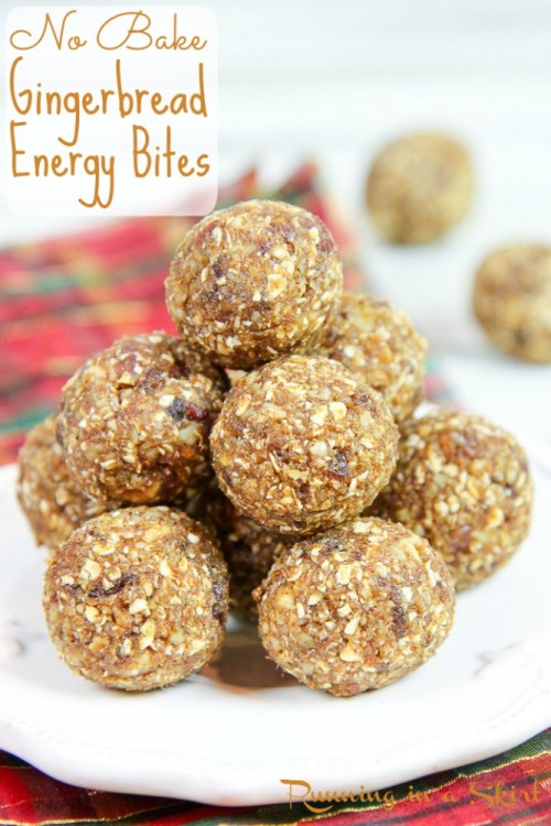 Healthy No Bake Gingerbread Balls