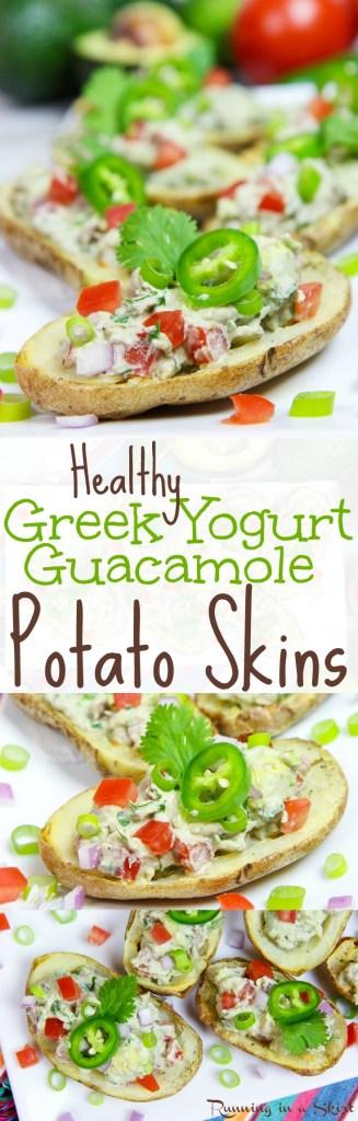 Healthy Potato Skins, Greek Yogurt Guacamole Potato Skins recipe / Running in a Skirt