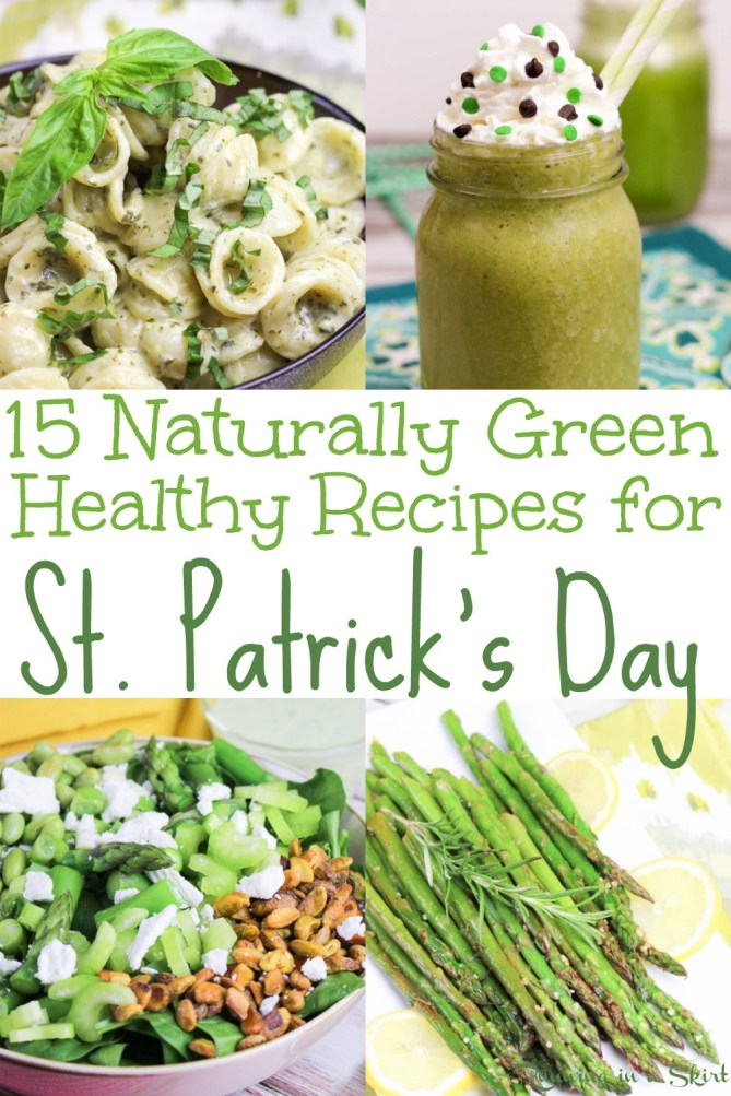 15 Naturally Green Healthy St. Patricks Day Recipes from Running in a Skirt