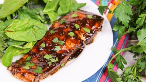Healthy Balsamic Glazed Salmon recipe/ Running in a Skirt