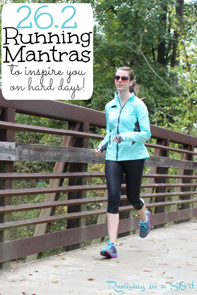 26.2 Running Mantras to Inspire You on Hard Days from Running in a Skirt