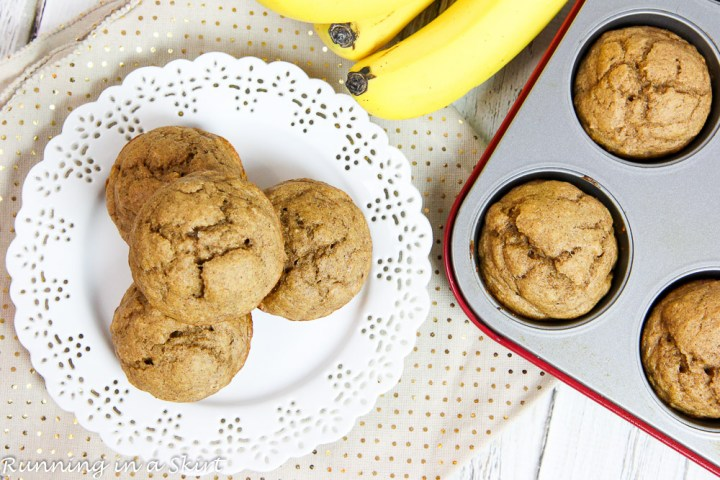Healthy Clean Eating Banana Bread Muffins recipe / Running in a Skirt