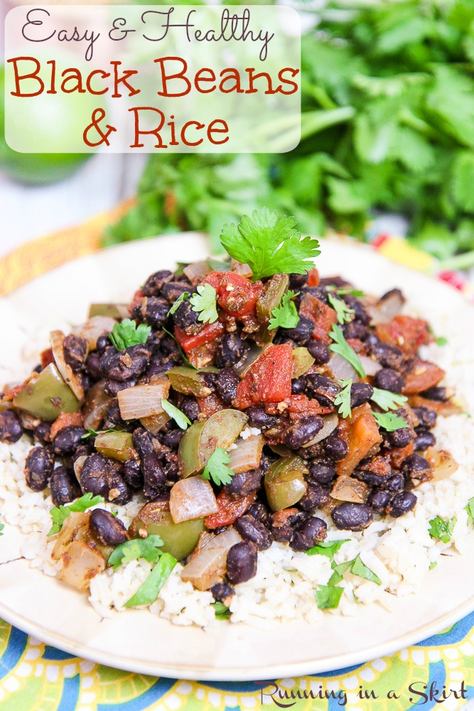 15 Minute Easy Black Beans And Rice