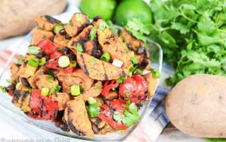 6 Ingredient Grilled Sweet Potato Salad/ Running in a Skirt