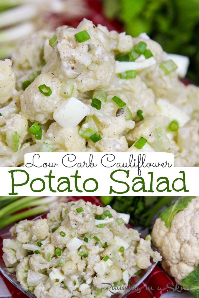 Low Carb Potato Salad pinterest pin