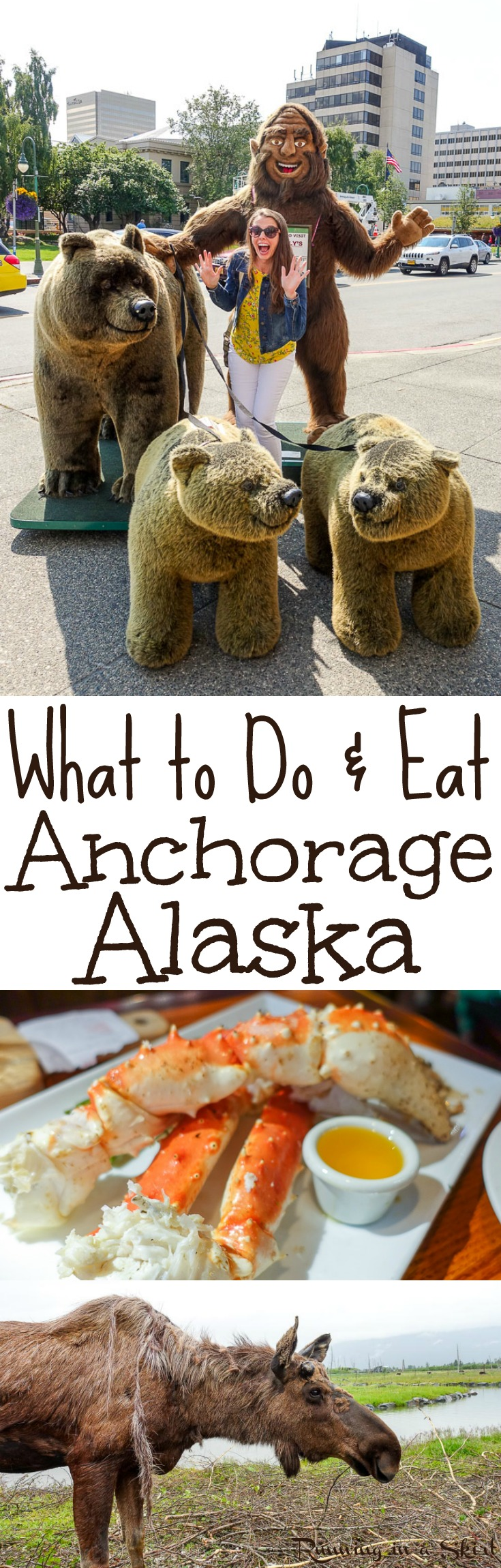 What to Do & Eat in and around Anchorage, Alaska USA- fun things to do in downtown in summer, restaurants and food, breweries and places to visit like a gold mine and Alaska Wildlife Conservation Center.  Beautiful pictures and tips of this bucket list adventure trip.  / Running in a Skirt via @juliewunder