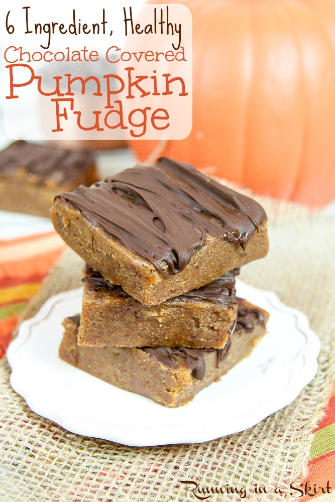 6 ingredient healthy pumpkin fudge recipe/ Running in a Skirt