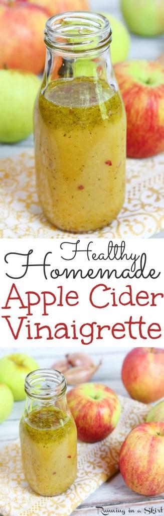 Homemade Apple Cider Vinaigrette recipe / Running in a Skirt