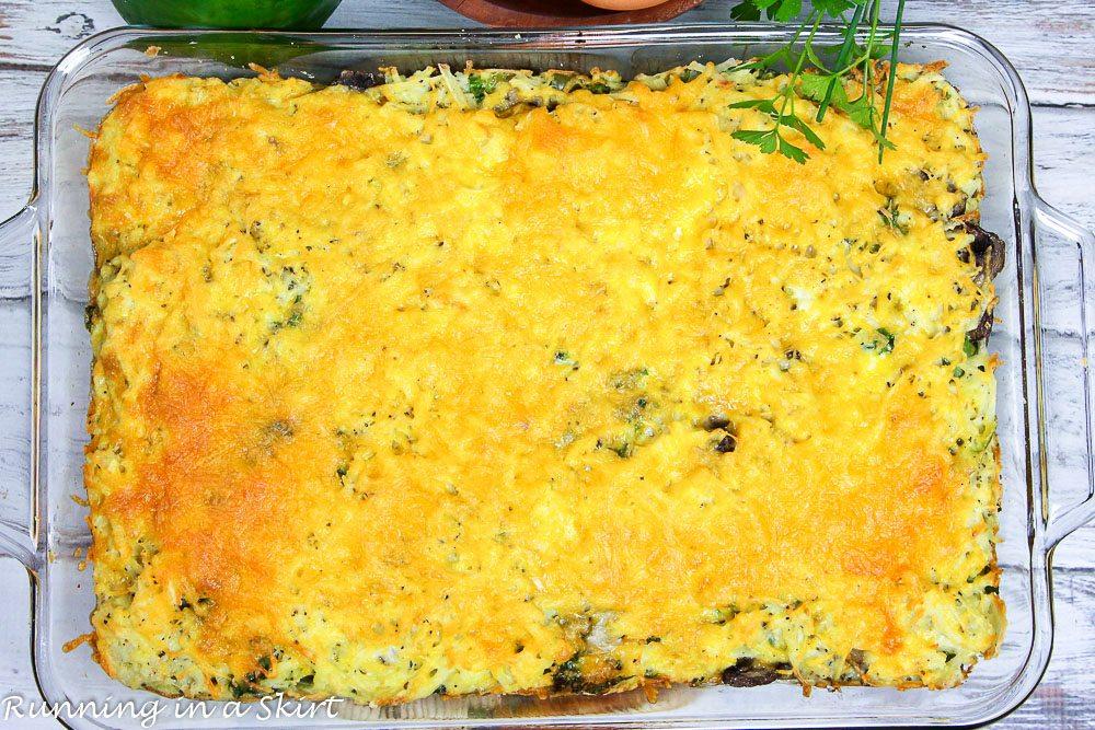 Healthy Vegetarian Breakfast Casserole recipe / Running in a Skirt