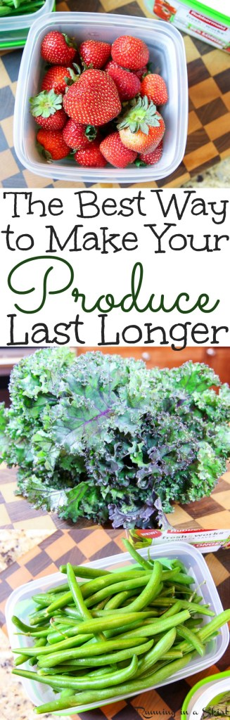 How to Make Your Produce Last Longer / Running in a Skirt