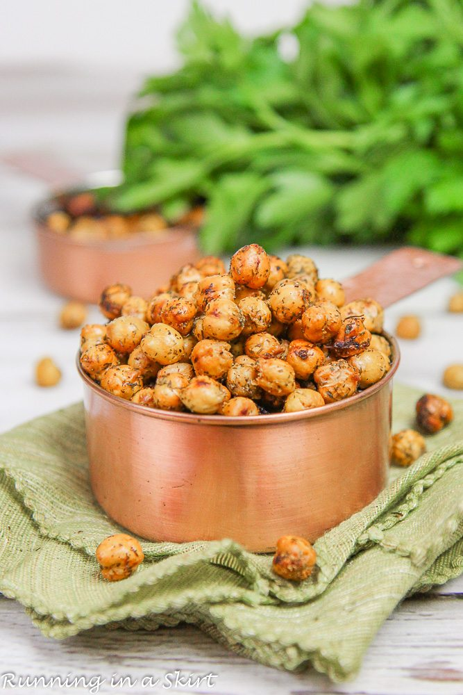 Roasted Crispy Ranch Chickpeas recipe