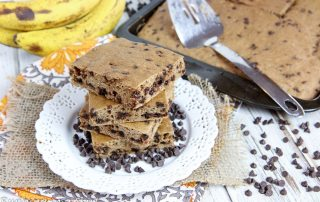 Healthy Banana Bread Bars
