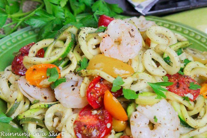 6 Ingredient Sheet Pan Shrimp and Zoodles recipe